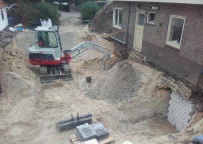 uitgraven tbv ondermetseling woning
